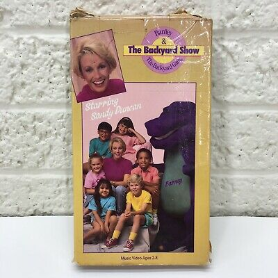 VERY RARE‼ Barney - The Backyard Show (VHS, 1988) Sandy ...