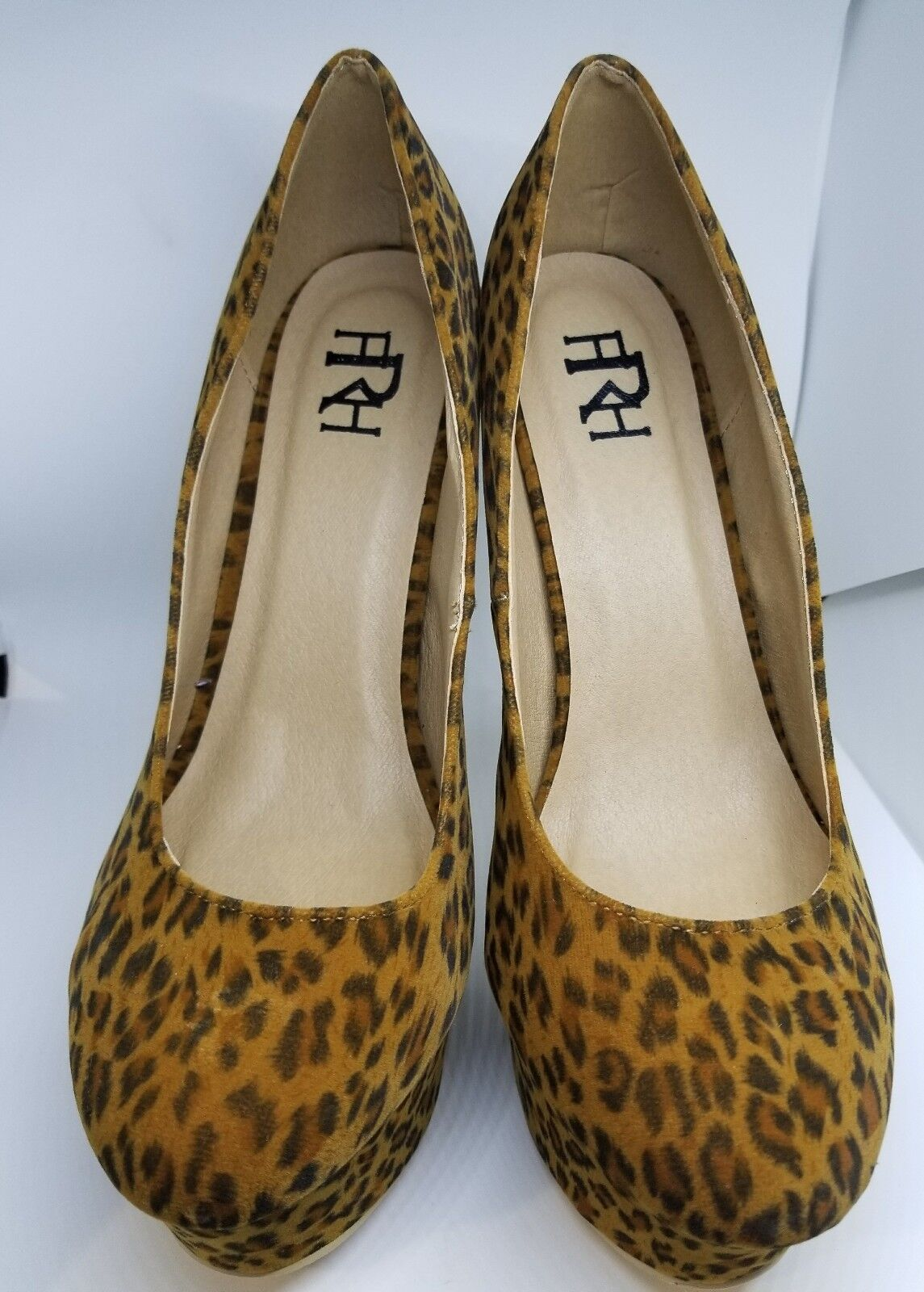 NEW fRh Women's leopard print suede Stilettos heels Shoes 5