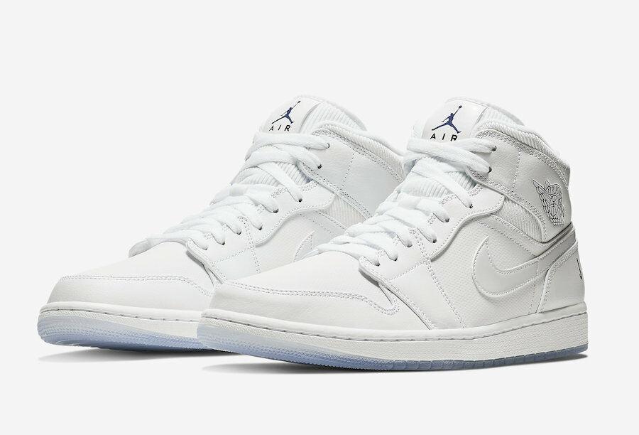 22a655975f Nike MEN'S Air Jordan Mid White Concord WHITE ICE 13 BRAND NEW AJ1 SIZE 1  ntifcr6203-Athletic Shoes