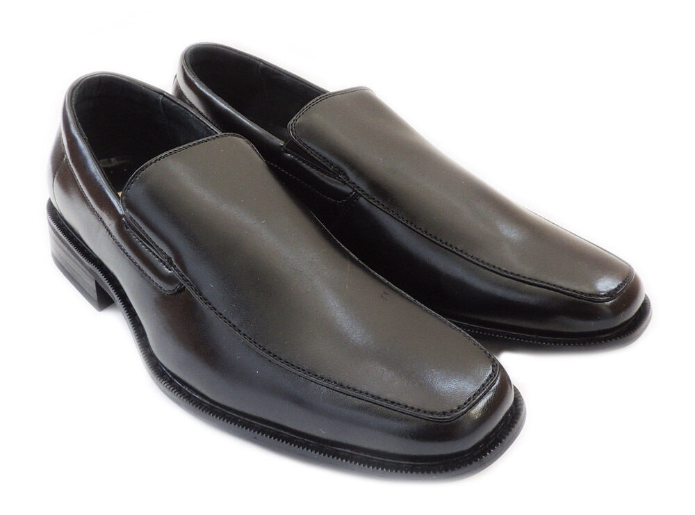 NEW  DELLI ALDO  MENS LOAFERS SLIP ON COMFORT LEATHER LINED DRESS SHOES   BLACK