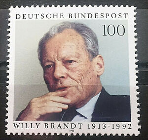 Bund-BRD-Michel-Nr-1706-Postfrisch-1993-Willy-Brandt