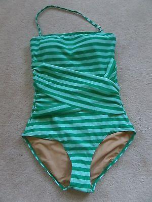 NWT Downeast Basics Cabana Stripe 1pc Spearmint Stripe Swimsuit sz XS