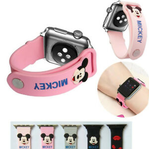 Cute-Mickey-Mouse-Silicone-Sport-Band-For-Apple-Watch-Series-4-3-2-1-Wrist-Strap