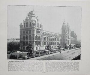 1896 Londres Impresión Descriptive Texto Nacional Historia Museo Cromwell Calle