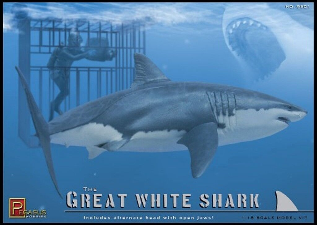 Pegasus Hobbies Great White Shark Model Kit PG9501 Brand New Plastic Model Kit