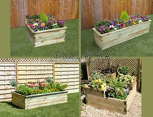 Sleeper Raised Bed Wooden Planter Grow your own Vegetables Garden or on raised beds for vegetables, planter boxes for vegetables, wooden containers for vegetables, fence for vegetables, greenhouses for vegetables, wooden trellis for vegetables,