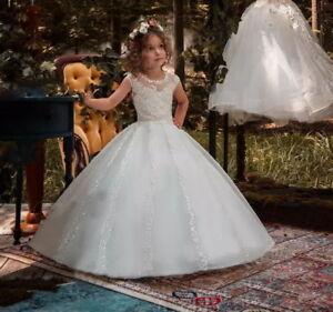 9deec911c6d94 Details about 2019 New Princess Flower Girls Dresses For Weddings Kids  First Communion Dress