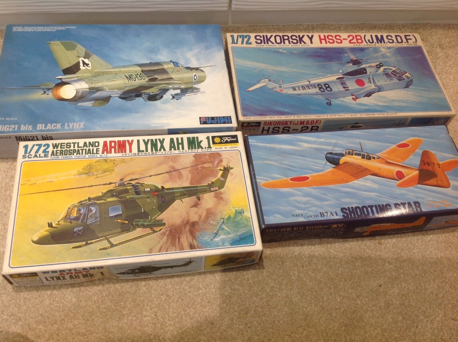 FUJIMIJOBLOT MODEL KITS COMPLETE UNMADE  HELICOPTERS AIRCRAFT 1 72