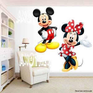 mickey mouse and minnie mouse room decor wall decal removable sticker ebay. Black Bedroom Furniture Sets. Home Design Ideas