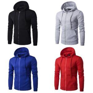Mens-Outwear-Long-Sleeve-Sweatshirt-Hoodie-Coat-Casual-Zipper-Jacket