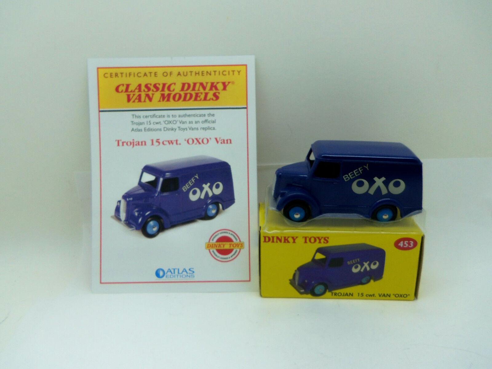Atlas  Dinky Toys No.453 Trojan Van Oxo Oxo Oxo + Certificate - New Mint in Box e878f5