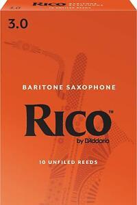 Rico RLA1030 Baritone Sax Reeds Strength 3 10-pack