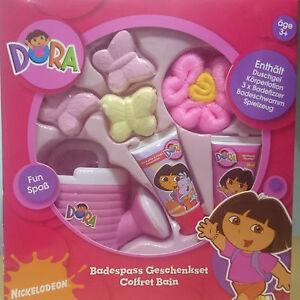 Spielzeug Dora Geschenk-set Badespass Duschbad Schwamm Badewanne