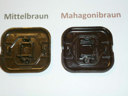 Busch /& Jäger LX mittelbraun 2 Stück Wippe Wechselschalter Bronce Rahmen u