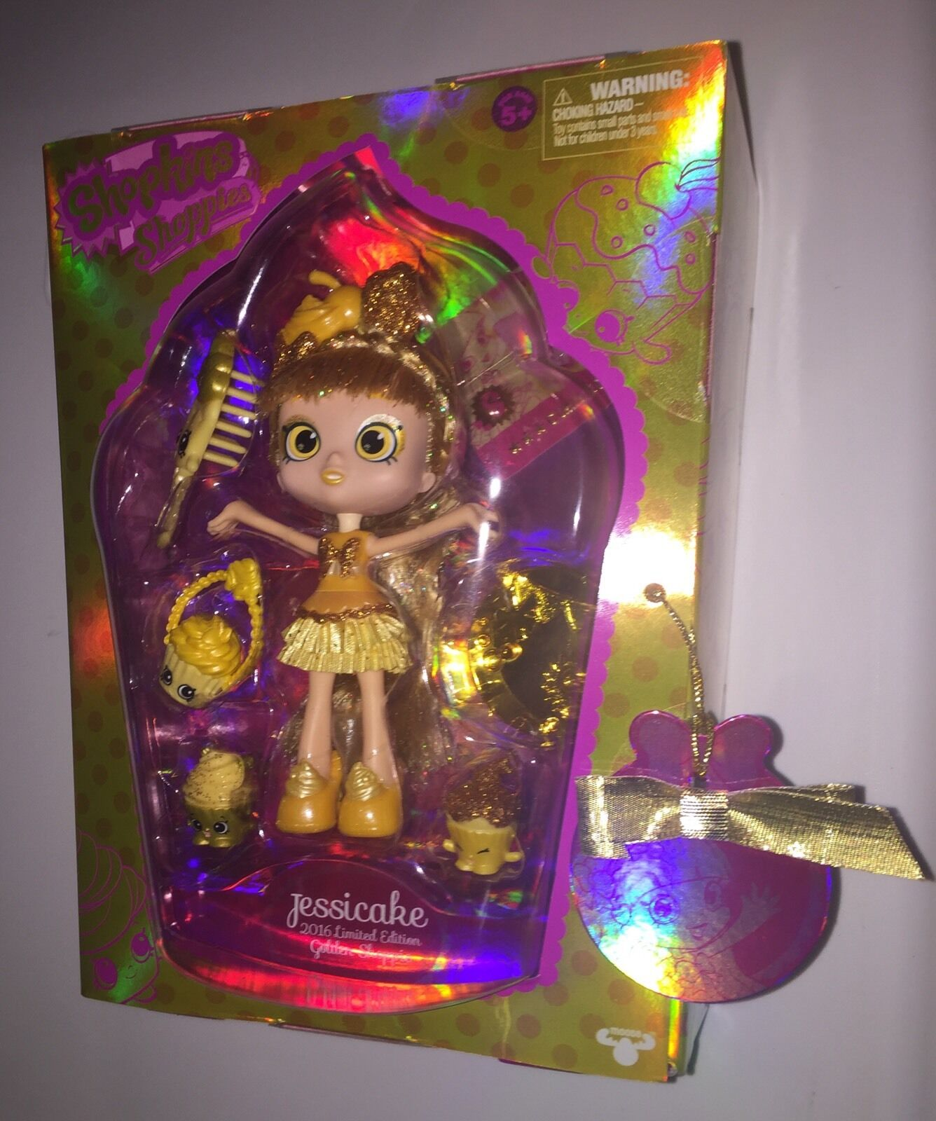 SDCC 2016 EXCLUSIVE SHOPKINS SHOPPIES GoldEN JESSICAKE LIMITED EDITION 1532 2000