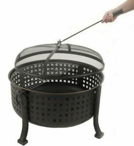 Extra Deep Round Fire Ring Outdoor Firepit Cooking Grill ...