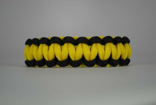 """550 Paracord Survival Bracelet Cobra Black//Yellow /""""Made in the USA/"""""""