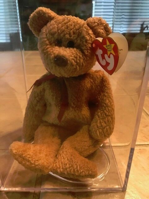 TY BEANIE BABY  CURLY  BEAR  1996 WITH 16 ERRORS and RARITIES, VERY RARE