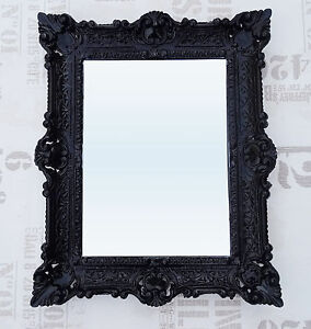 Wandspiegel schwarz antik barock repro badspiegel frisierspiegel 56x46 spiegel 9 ebay - Barock spiegel schwarz ...