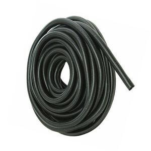 "50/' Feet 1//2/"" Black Split Loom Wire Flexible Tubing Wire Conduit Hose Cover"