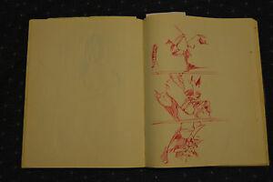 GREAT SIGNED c1976 RICHARD YARDE SKETCHBOOK!!!! ~~ AFRICAN AMERICAN ARTIST RARE!