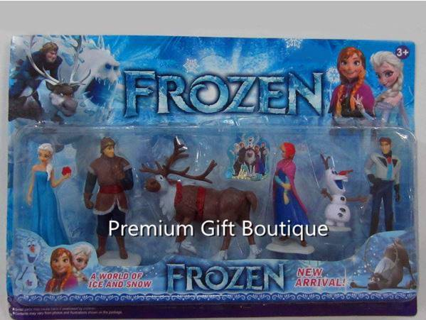 6x Frozen Anna Elsa Olaf Sven Doll Loose Figure Figurine Cake Topper Toy