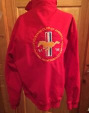 MUSTANG CLUB OF AMERICA 30TH ANNIVERSARY L  Men's Jacket 1964-1994  Red USA