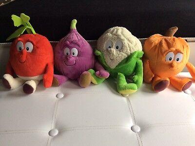 Aufrichtig Goodness Gang, 4 Süße Gemüse Plüschtiere