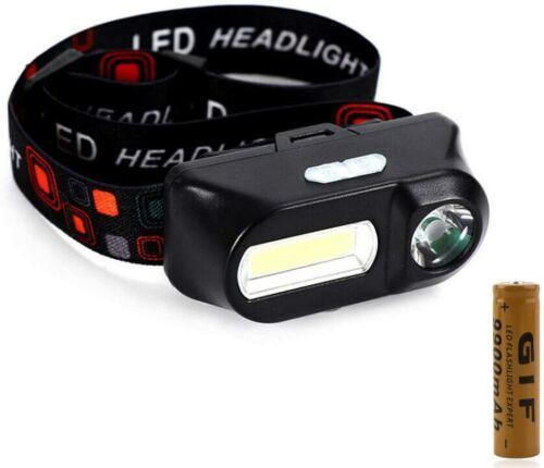 LED USB Headlamp Camping Fishing Waterproof Headlight Super Bright Head Torch UK