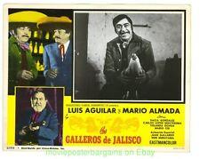 LOS GALLEROS DE JALISCO LOBBY CARD size MOVIE POSTER 2 Card's MEXICO 1974