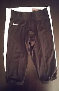 Team Nike Football Black W/White Strip Pants Mens Large