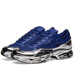 Adidas X Raf Simons Ozweego Bleu/argent Métallisé Ss19 Disponible Maintenant-afficher Le Titre D'origine