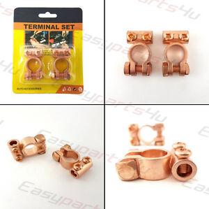 2x-Laiton-connecteurs-pour-pinces-de-batterie-terminaux-12-24V-voiture-bateau