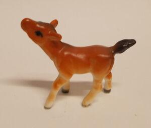 Vintage Miniature Horse /& Colt Figurines  Japan Bone China Brown
