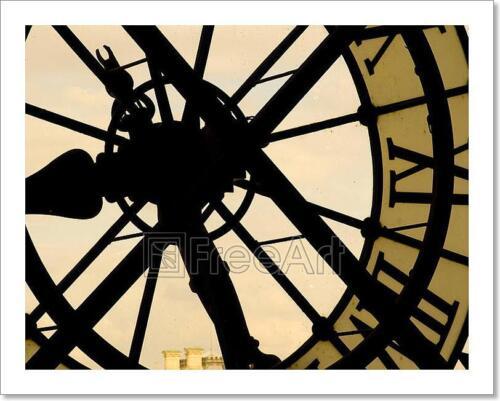 F Clock Art Print Home Decor Wall Art Poster