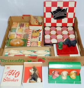 Large Lot of Vintage Figural Soaps w/ Original Boxes/Displays Lot 279