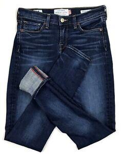 Lucky-Brand-Brooke-Skinny-Selvedge-Jeans-Womens-Size-00-White-Oak-Cone-Denim