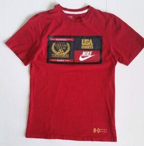 super popular 51b21 bcf74 Image is loading USA-Basketball-Dream-Team-T-shirt-Nike-1992-