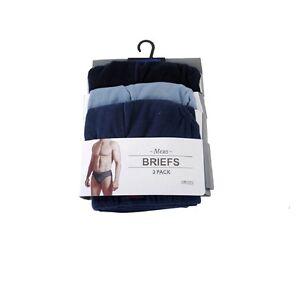 clasico-hombre-azul-Slips-Braguitas-Hipster-underwear-Paquete-de-3-large-Talla