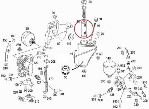 Neu Original Mercedes Benz W215 R216 W220 W221 W230 Hydraulik Aufhängung Filter