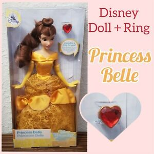 Disney-Parks-Princess-Belle-Classic-11-5-034-Dolls-With-Rings-Beauty-and-the-Beast