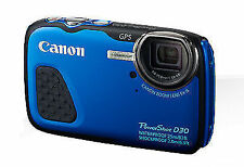 Canon PowerShot D30 12.1 MP Digital Camera - Blue
