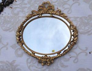 Specchio muro rotondo oro barocco stile liberty bagno