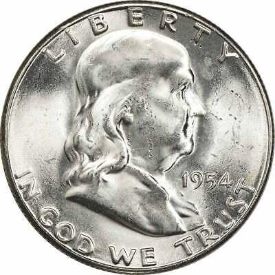 1955 Franklin Silver Half Dollar Choice BU Uncertified