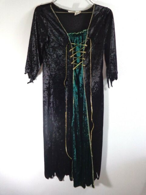 Witch Dress Gown Halloween Costume Size 4-6 Girls Queen Medieval ...