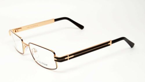 CAVIAR 4851 C16 S.54 EYEGLASSES BROWN GOLD METAL RX FRAME AUTHENTIC