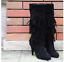 Mujer-Borlas-Flequillos-Capas-detalle-tacon-alto-zapatos-de-Botas-por-la-rodilla
