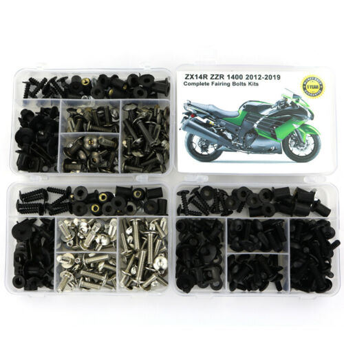 Complete Fairing Bolts Nuts Kit Body Screw For Kawasaki ZX14R ZZR 1400 2012-2019