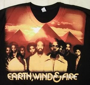 EARTH-WIND-amp-FIRE-Legacy-Continues-2009-US-Concert-T-Shirt-XL-Combed-Ring-spun