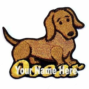 Dachshund Dog Custom Iron-on Patch With Name Personalized Free